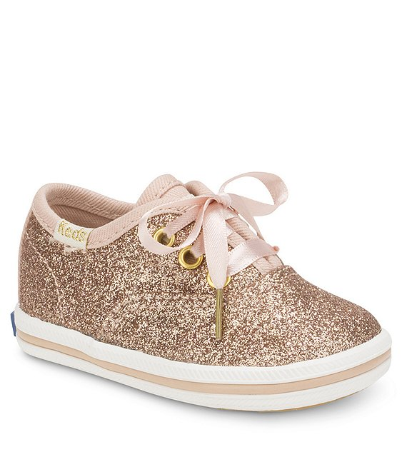 2275aa9727ab Keds for kate spade new york Girls  Glitter Crib Shoe Sneakers ...