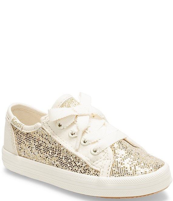 Color:Metallic Sparkle - Image 1 - Girls' Kickstart Jr Glitter Lace Up Sneakers (Toddler)