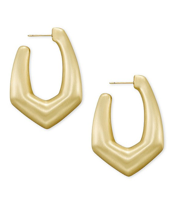 Color:Gold - Image 1 - Kaia Hoop Earrings