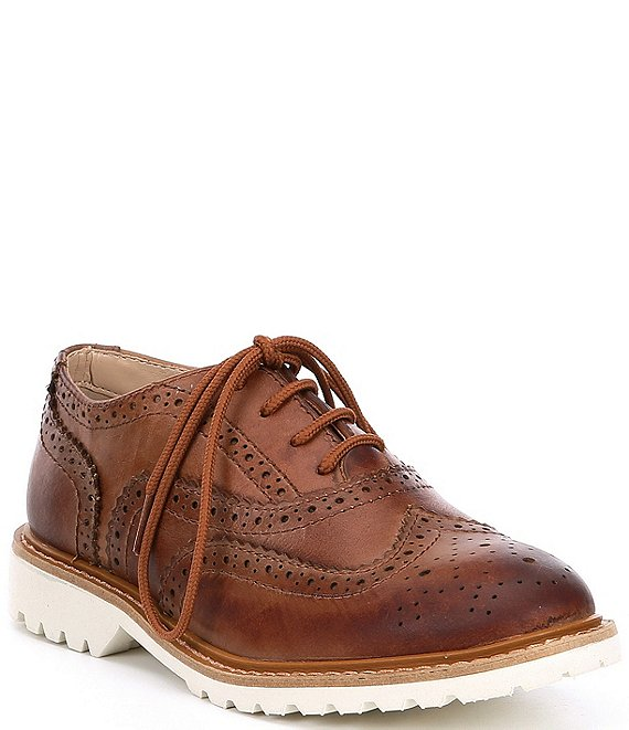 Kenneth Cole New York Boys' Wing Brogue Leather Oxford