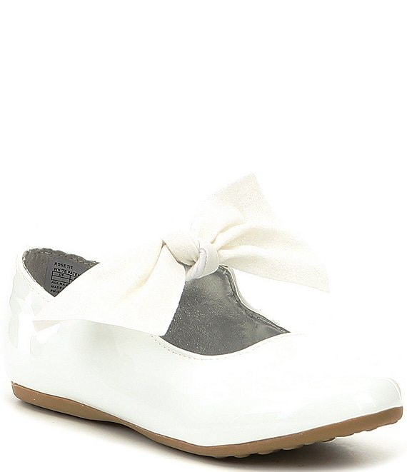 Kenneth Cole New York Girls' Rose Tie Bow Detail Flats