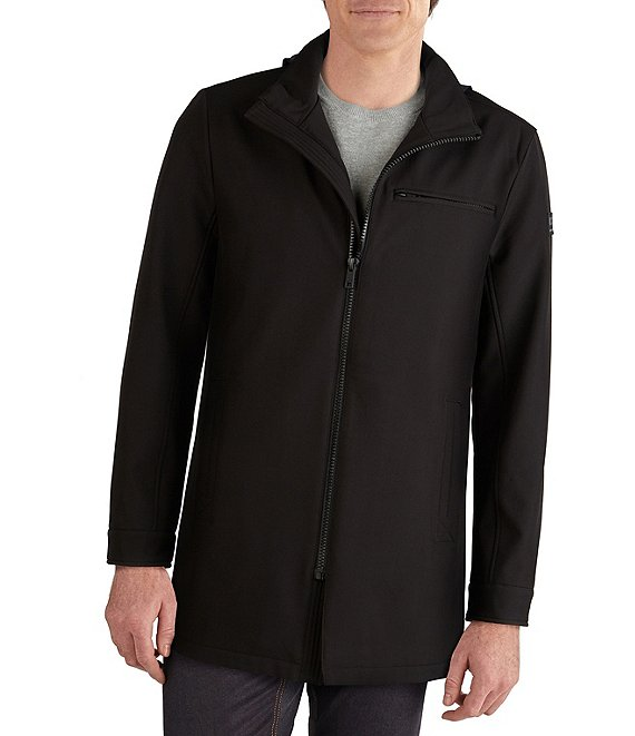 Kenneth Cole New York Long-Sleeve Zip-Out-Hooded Raincoat