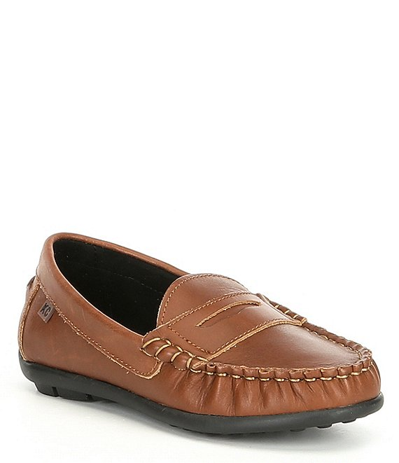 Color:Cognac - Image 1 - Boys' Helio Gear Leather Loafers (Youth)