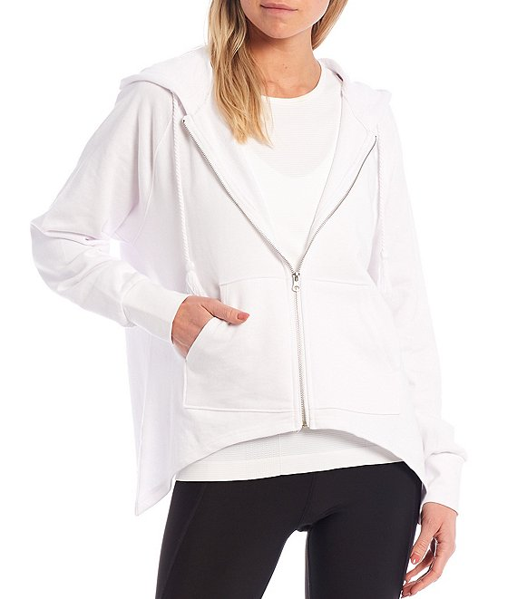 Color:White - Image 1 - Everyday Zip Front Hoodie