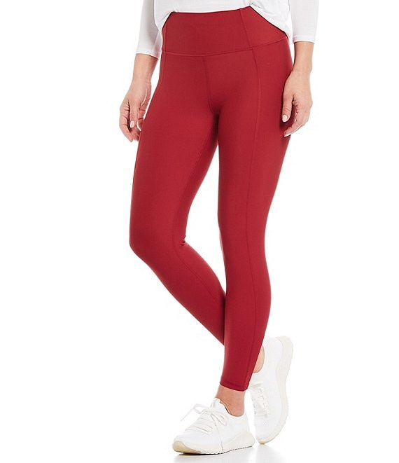 Color:Rumba Red - Image 1 - Solid High Rise 7/8 Leggings