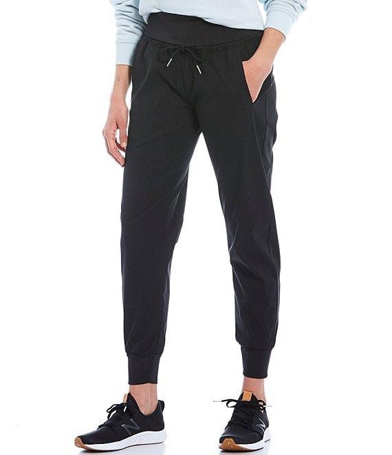 Color:Black - Image 1 - Stretch Woven Jogger