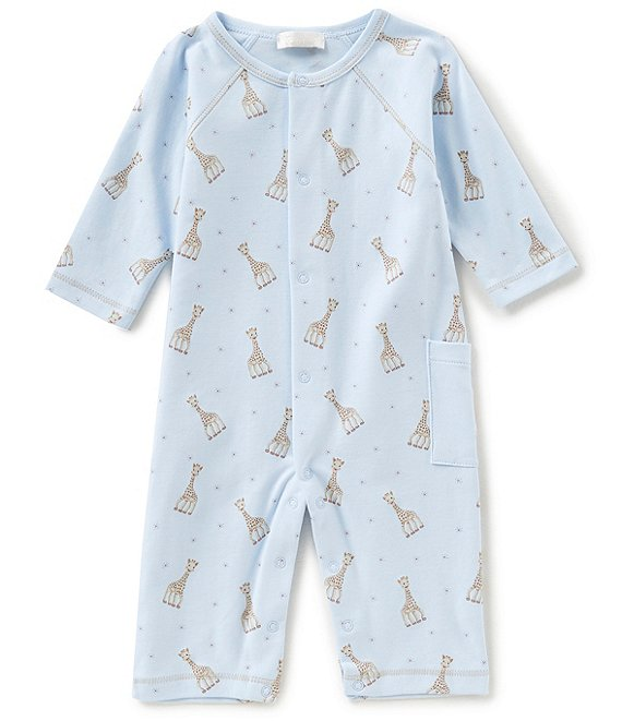 Color:Light Blue - Image 1 - Baby Boys Newborn-9 Months Sophie La Girafe Printed Coverall