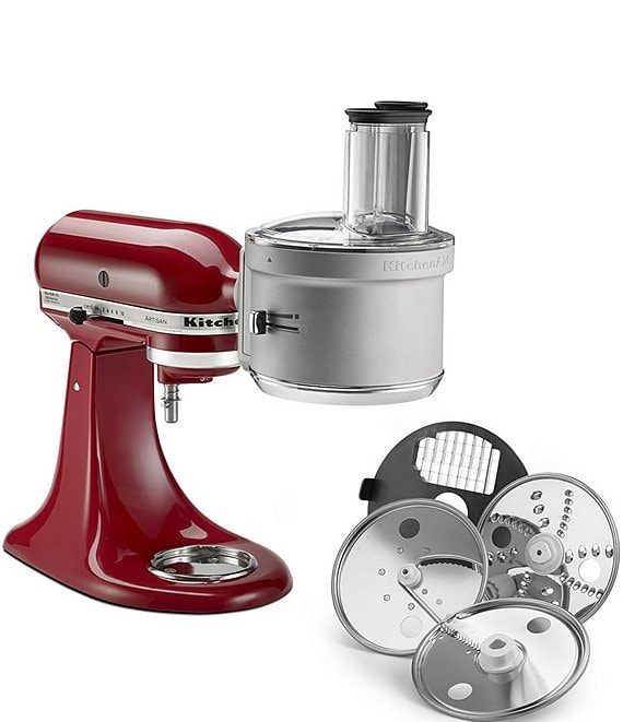 Color:Silver - Image 1 - Dicing & Food Processor Stand Mixer Attachment Kit