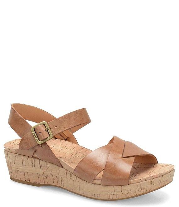 1e35f5060779 Kork-Ease Myrna Ankle Strap Banded Leather   Cork Sandals