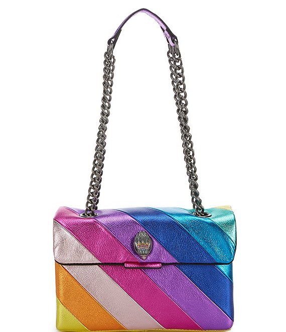Color:Multi - Image 1 - Kensington Rainbow Metallic Crossbody Bag