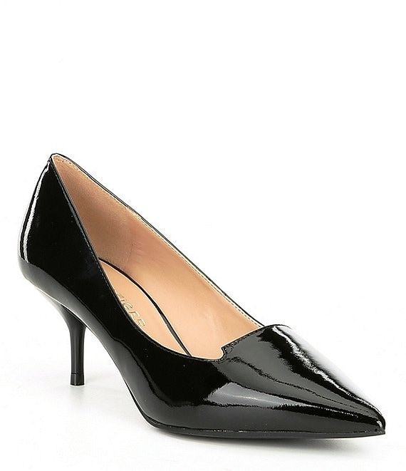 Color:Black - Image 1 - Peony Patent Leather Dress Pumps