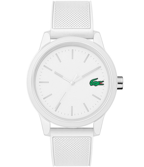 Color:White - Image 1 - 12.12 White Silicone Strap Watch
