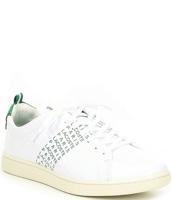 786e6530ddb1 Lacoste Men s Carnaby Leather EVO Sneaker