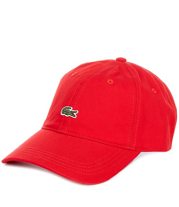 Color:Red - Image 1 - Small Croc Gabardine Cap