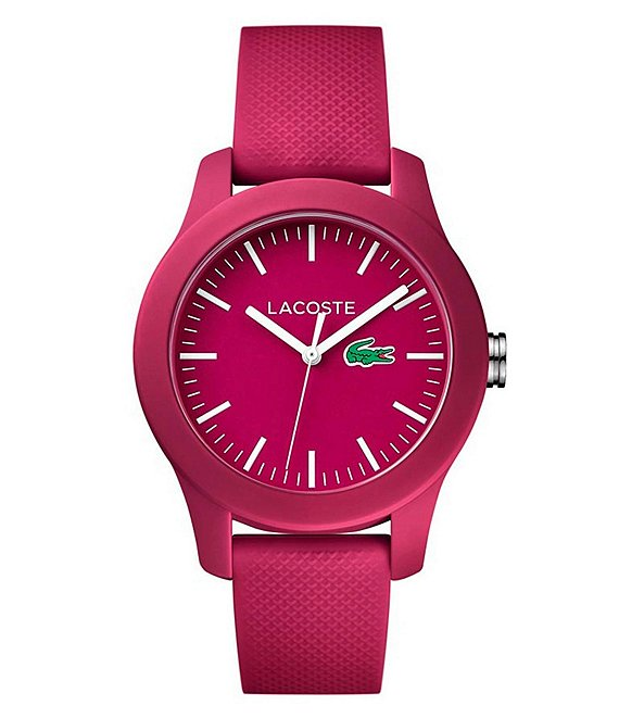 Lacoste 12.12 Hot Pink Analog Silicone-Strap Watch