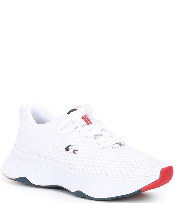 Color:White/Navy/Red - Image 1 - Women's Court-Drive 0120 3 Lace-Up Sneakers