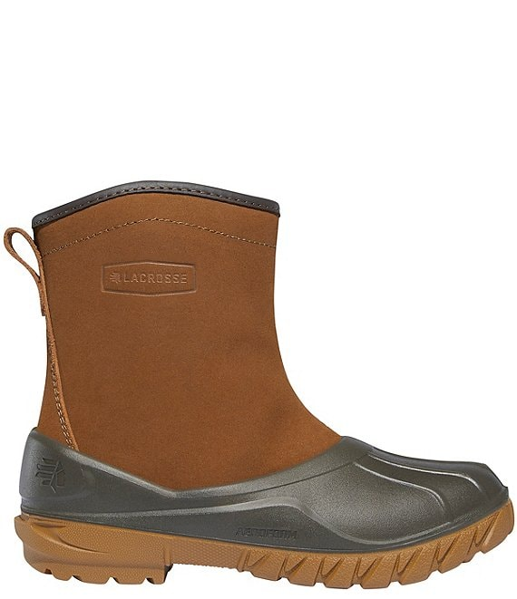 Color:Rustic Brown - Image 1 - Women's Aero Timber Top Water-Resistant Suede Shearling Booties