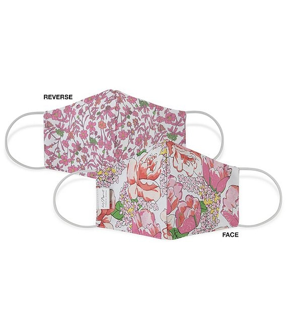Color:Pink/Floral - Image 1 - OEKO-TEX & Triple Layer with SILVERbac™ Antimicrobial Technology Chloe/Cezanne Cloth Face Mask