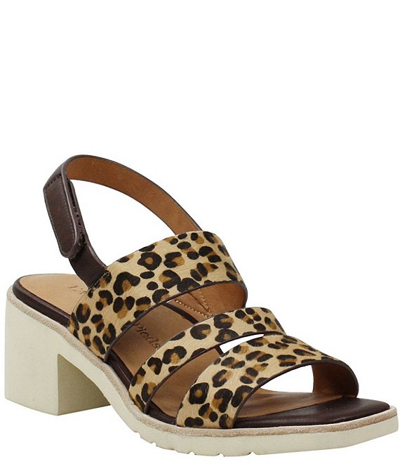 Color:Brown/Black Leopard - Image 1 - Quennell Leopard Print Calf Hair Strappy Sandals