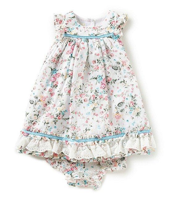 6336a3ac6 Laura Ashley Baby Girls Newborn-24 Months Floral Ruffle-Hem Dress |  Dillard's