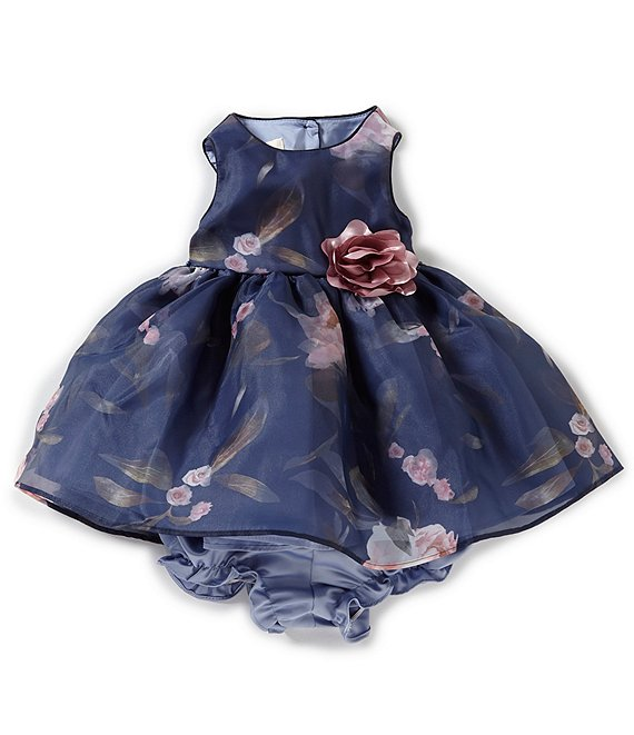 7f0c2fbb3aed9 Laura Ashley Baby Girls Newborn-9 Months Floral Print Sleeveless Dress |  Dillard's