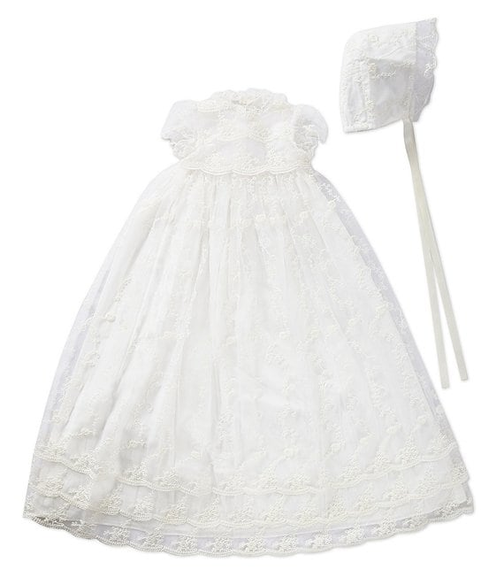 Michealboy Baby Girls Lace Bowknot Flower Dress Wedding Pageant Baptism Christening Tutu Gown