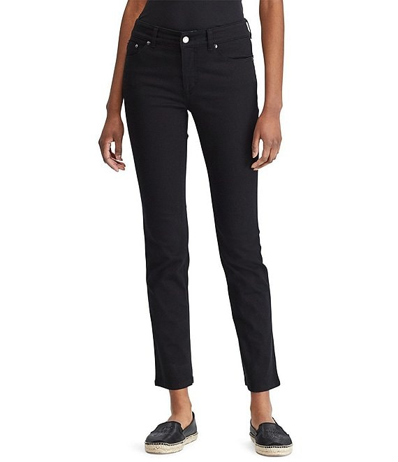 Lauren Jeans Co. Super-Stretch Slimming Premier Straight Jeans