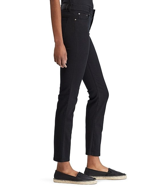 store reasonably priced great prices Lauren Jeans Co. Super-Stretch Slimming Premier Straight Jeans