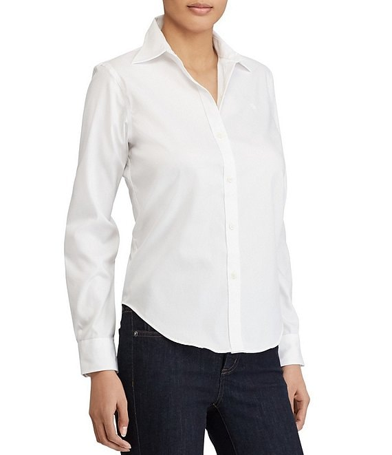 Color:White - Image 1 - #double;Aaron#double; Wrinkle-Free Shirt