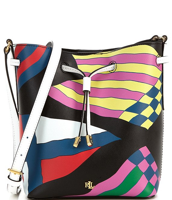 Color:Nautical Flags - Image 1 - Debby II Colorblocking Drawstring Bag