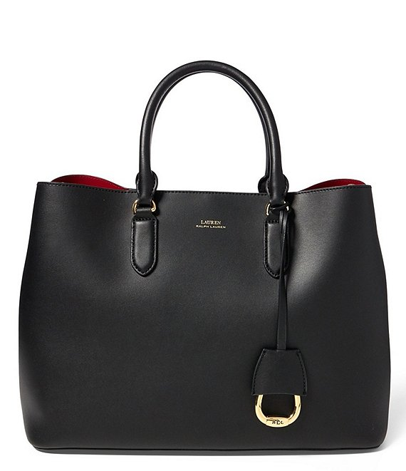 Color:Black - Image 1 - Marcy Leather Tote Bag