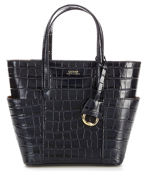 Color:Lauren Navy - Image 1 - Mini Carlyle Tote Bag