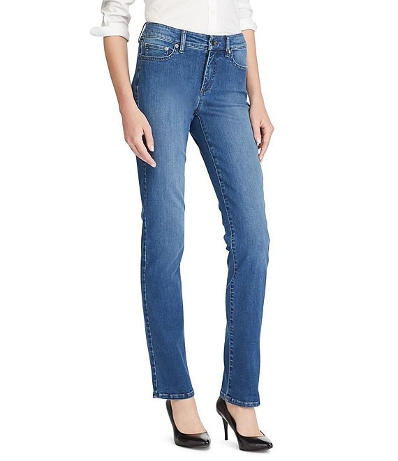 Color:Harbor Wash - Image 1 - Ultimate Slimming Premier Straight-Leg Jeans