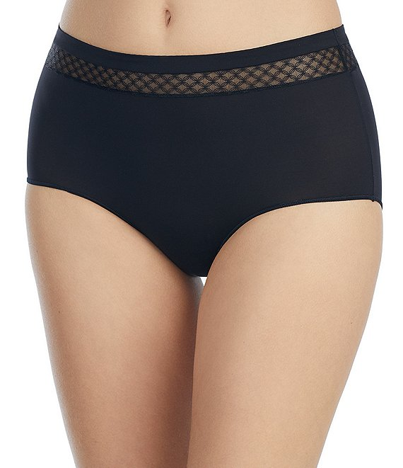 Color:Black - Image 1 - Modern Microfiber Brief Panty