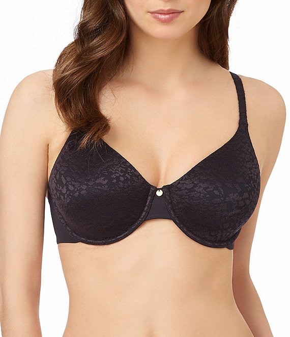 Color:Black - Image 1 - Safari Smoother Leopard-Print Lace Bra