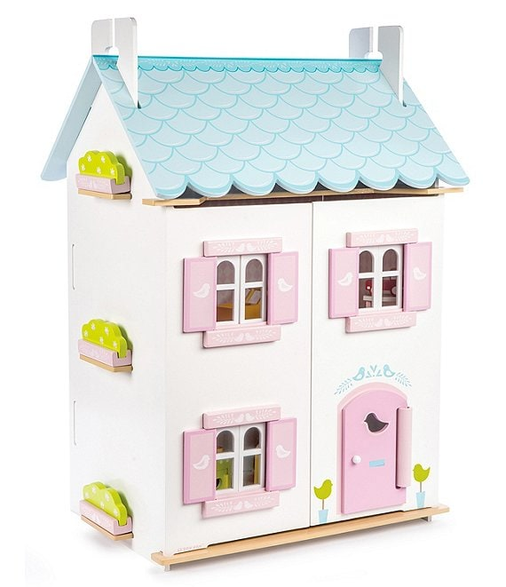 Color:Multi - Image 1 - Blue Bird Cottage Doll House & Furniture