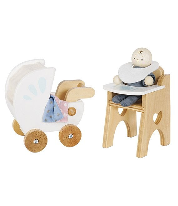 Color:Multi - Image 1 - Nursery Doll Set for Doll House