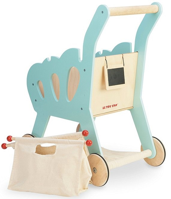 Le Toy Van Honeybake Wooden Play Shopping Trolley