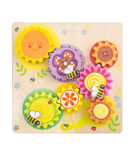 Color:Multi - Image 1 - Petilou Gears & Cogs Busy Bee Learning Toy