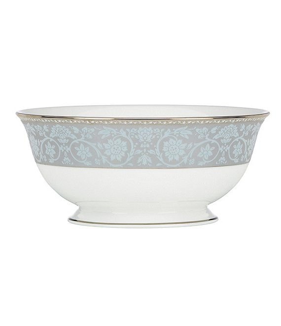 Lenox Westmore Floral Platinum Bone China Serving Bowl