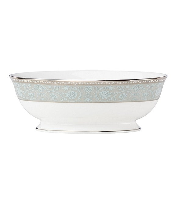 Lenox Westmore Floral Platinum Bone China Vegetable Bowl