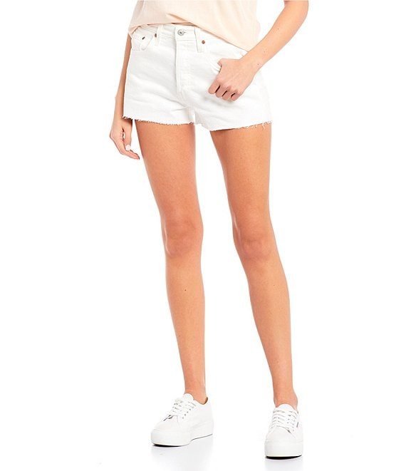 Color:In The Clouds - Image 1 - 501 Original High Rise Frayed Hem Shorts