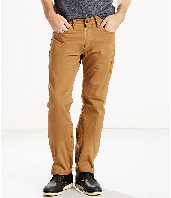 Color:Caraway - Image 1 - Levi's® 505™ Straight-Fit Stretch Slub Twill Jeans