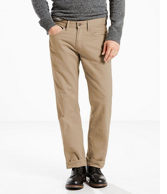 Color:Timberwolf - Image 1 - Levi's® 559 Relaxed Straight Slub Twill Jeans