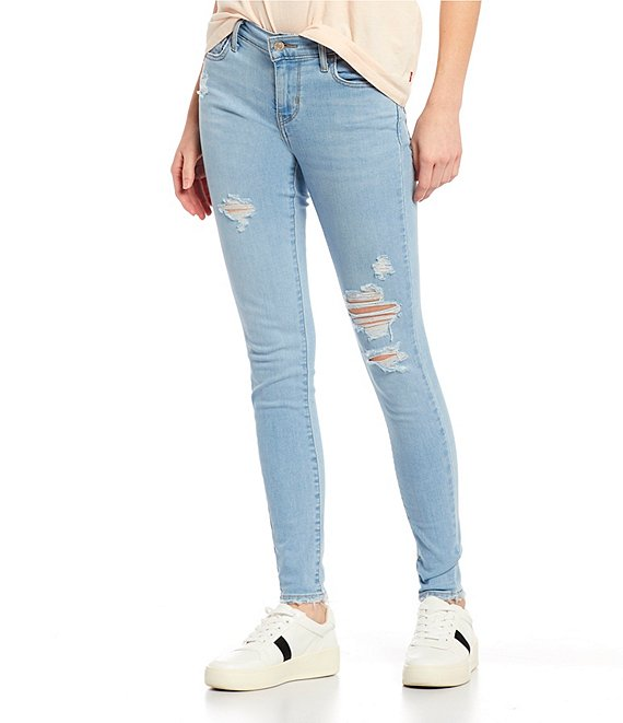 Color:Ontario Tumble - Image 1 - Levi's® 710 Super Skinny Light Wash Jeans