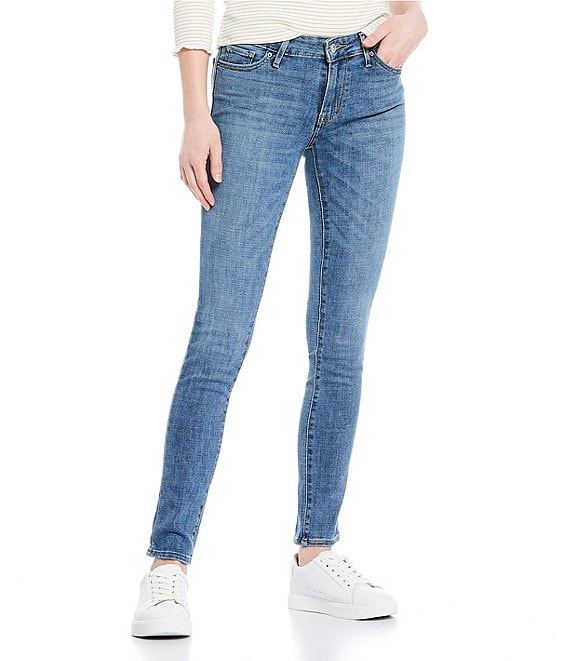 Color:Indigo Rays - Image 1 - Levi's® 711 Mid Rise Skinny Jeans