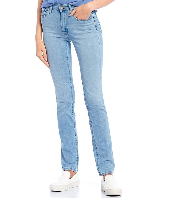 Color:Slate Morning - Image 1 - Levi's® 724 32#double; Inseam High Rise Straight Jeans