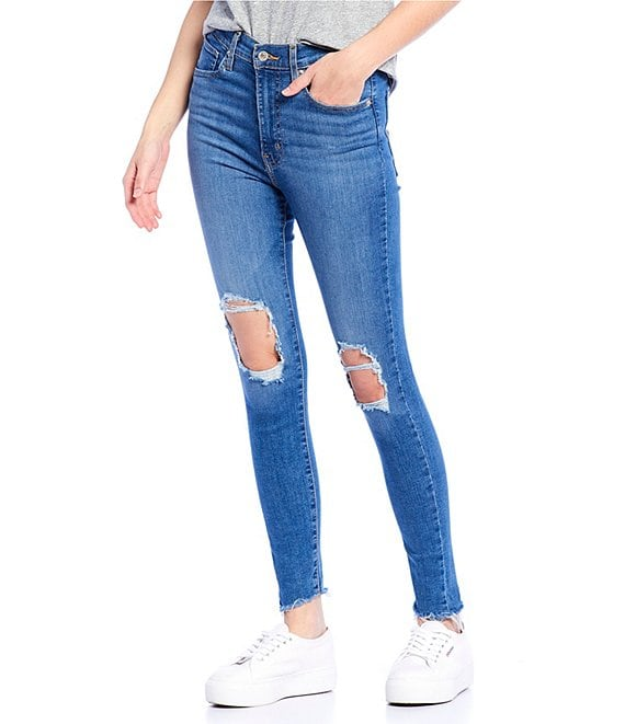 Color:Quebec Storm - Image 1 - Mile High Destructed Super Skinny Jeans