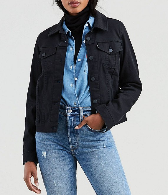 Color:Soft Ultra Black - Image 1 - Levi's® Original Trucker Jacket