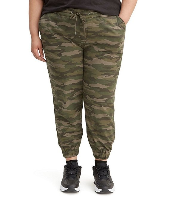 Color:Comfy Camo - Image 1 - Levi's® Plus Size Jet Set Camo Jogger